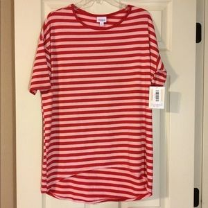 NWT Lularoe Striped Red/pink Irma Tunic